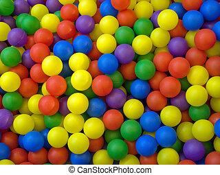 balle, bleu, colorer image, vert jaune, sport, rouges
