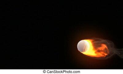 balle, brûler, golf