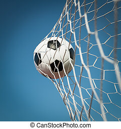 balle, but football, concept, reussite