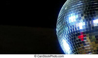 balle, côté, disco, miroir, droit