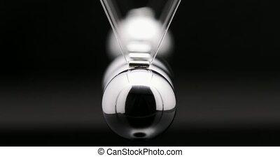 balle, cadre, métal, mouvement, sphères, clicker, lent, oscillation