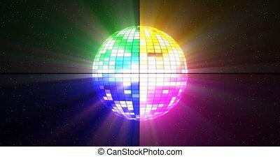 balle, capable, boucle, disco