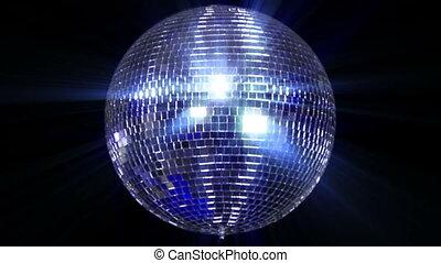 balle, centre, disco, miroir, large