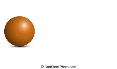 balle, channel., 60, arrière-plan., fps, orange, alpha, blanc, rouleaux