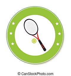 balle, couleur, cadre, raquette tennis, circulaire