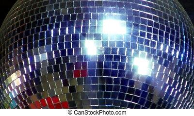 balle, disco, miroir, scintillement, centre