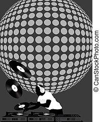 balle, dj, disco