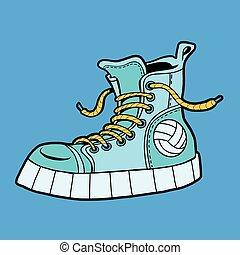 balle, espadrilles, chaussures, sports