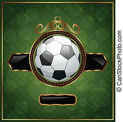balle, fond, football