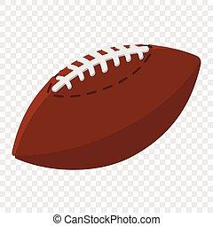 balle, football américain, dessin animé, illustration