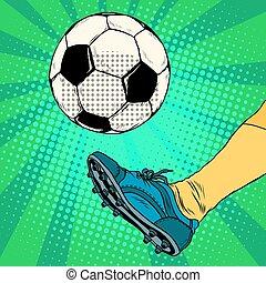 balle, football, coup de pied