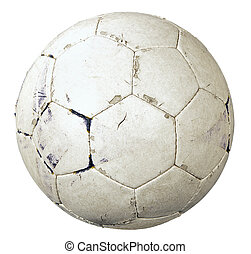 balle, football, utilisé