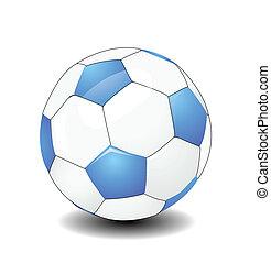 balle, football, vecteur