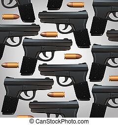 balle, fusil, fond