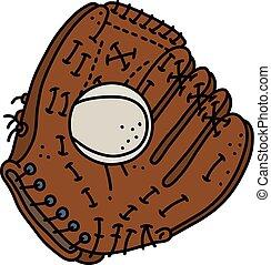 balle, gant base-ball