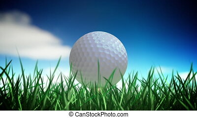 balle, golf, boucle