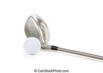 balle golf, chauffeur