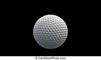 balle, golf, fenêtre, rupture