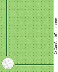 balle, golf, fond