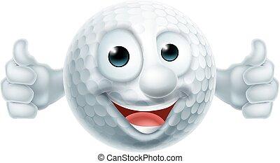 balle, golf, homme