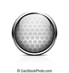 balle golf, icône