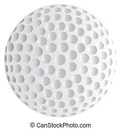 balle, golf, isolé