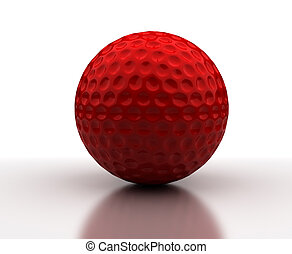 balle, golf, rouges