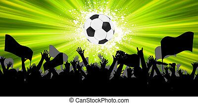 balle, grunge, eps, arrière-plan., 8, football