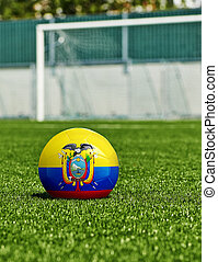 balle, herbe, drapeau, stade, football, Équateur