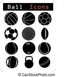 balle, icônes