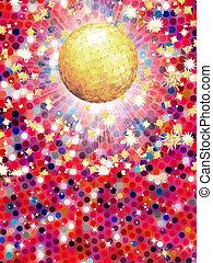balle, illustration., coloré, eps, disco, 8, 3d