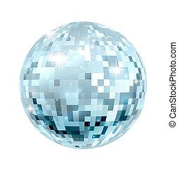 balle, illustration, disco