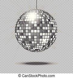 balle, illustration, disco, vecteur, miroir, scintillement