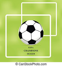 balle, illustration, image, fond, vert, brochure, poster..eps, football
