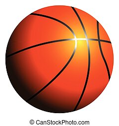 balle, isolé, basket-ball