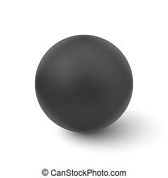 balle, isolé, vecteur, arrière-plan noir, blanc