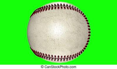 balle, milieu, animation, tourner, arrière-plan., base-ball, transparent, 3d