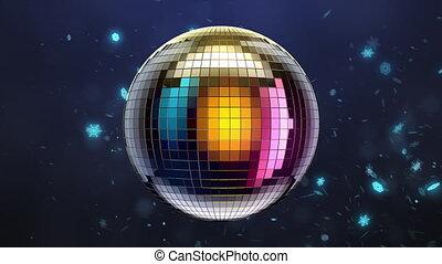 balle, miroir, disco