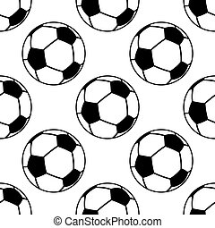 balle, modèle, football, seamless, football, ou