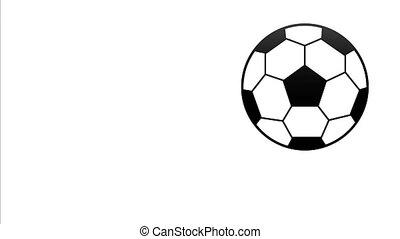 balle, peint, sauts, vidéo, 4k, football, côté