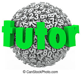 balle, précepteur, nombre, privé, sphère, apprentissage, ...