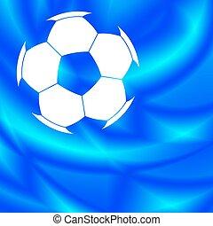 balle, résumé, football, fond
