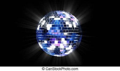 balle, render, shining., disco, refléter, 3d