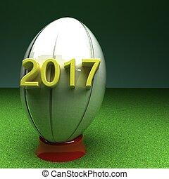 balle rugby, à, année, 2017