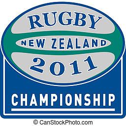 balle rugby, à, mots, rugby, 2011, nouvelle zélande