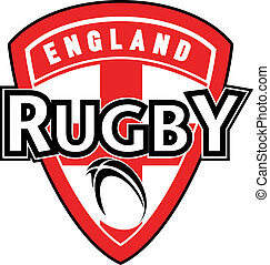balle rugby, bouclier, angleterre, drapeau