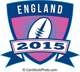 balle,  rugby, bouclier,  retro,  2015, angleterre