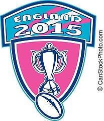 balle,  rugby, bouclier, tasse,  2015, angleterre