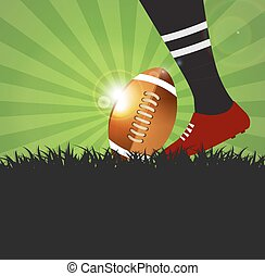 balle,  rugby,  football, joueur, fond, herbe, ou