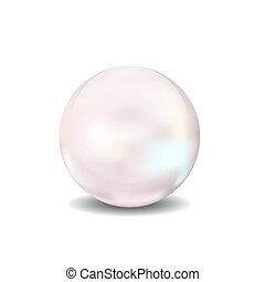 balle, sphère, illustration, perle, vecteur, icône, 3d